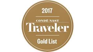 US Condé Nast Traveler Magazine's Gold List 2017