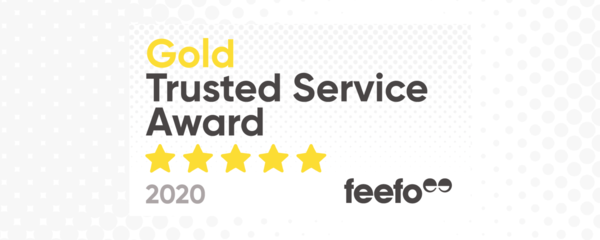 Gold Trusted Service Award 2020!
