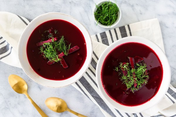 Hot Beetroot Soup With Feta By Euphoria