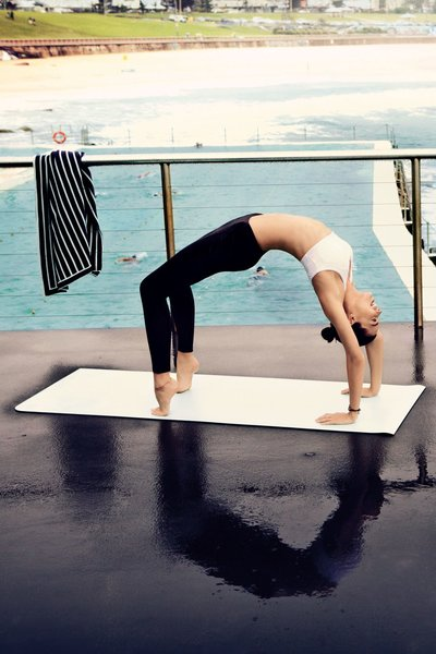 Vogue - Kathleen Baird-Murray learns Yoga at Schloss Elmau