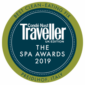 Conde Nast Traveller Spa Awards - Best Clean Eating Fix 2019